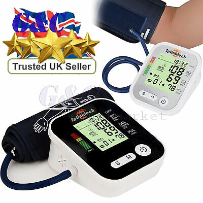 Automatic Digital LCD Arm Blood Pressure Monitor BP Cuff Gauge Home Machine