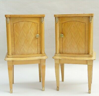 Good Quality Pair of Art Deco Bedside Cabinets