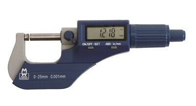"""Moore and Wright 0-25mm 0-1"""" Inch MW200-01DBL Digital External Micrometer"""