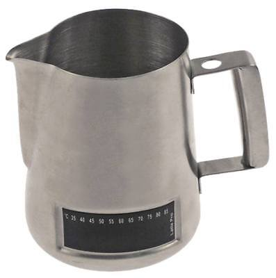 Milk Jug with Thermometer Ø 95mm Height 115mm 0.6l (20.3oz) Stainless Steel