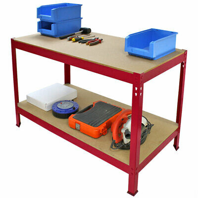 Work Bench DIY Station Garage Shed Warehouse Heavy Duty Metal Workbench