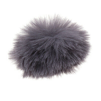 Outdoor Dusty Microphone Furry Cover Windscreen Windshield Muff Silver Gray
