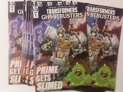 IDW TRANSFORMERS GHOSTBUSTERS ASHCAN 2019 GHOSTS of CYBERTRON 35TH ANNIVERSARY