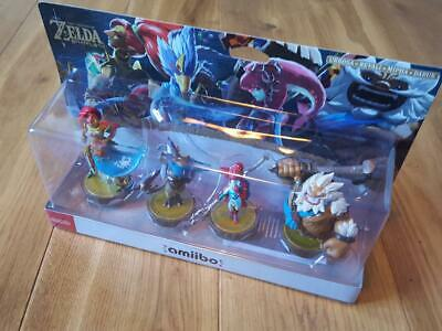NEW Champion's Amiibo 4 The Legend of Zelda: Breath of the Wild  pack figures
