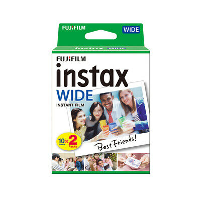 20 Sheets Fujifilm Instax WIDE300 WIDE Camera Instant Film Photo Paper Gift M3Q3