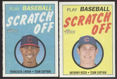 2019 Topps Heritage Baseball - Scratch Off - You Pick Numbers