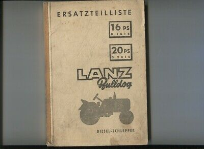 N°56 /  LANZ Bulldog 16 PS D1616 / 20 PS D2016   3 manuels deutsch text