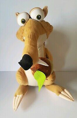 Large 12 inch Ice Age 4 Scrat Sabre Tooth Squirrel with Acorn eyes Plush Toy