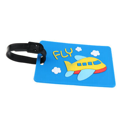 Luggage Tags Label Strap Name Address ID Suitcase Bag Baggage Travel Blue