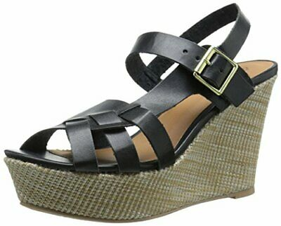 3d562c0bc4 QUPID WOMEN'S ARDOR-57 Wedge Sandal, Black, Size 6.0 - $32.00 | PicClick