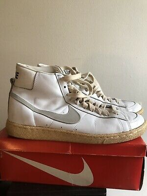 ca198f8228e Vintage 80's Nike Bruin White Leather Shoes Size US 11 Men's High Top  Basketball