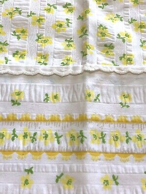 Fieldcrest Perfection Yellow Floral One Standard Vintage Pillowcase