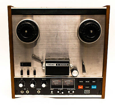TEAC A-3300S 2 Track 2 Channel Stereo Reel to Reel Tape Recorder