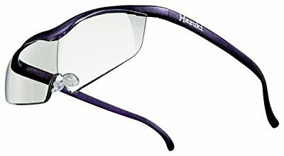 Hazuki glasses loupe compact size with 1.85 times Magnifier clear lens purple