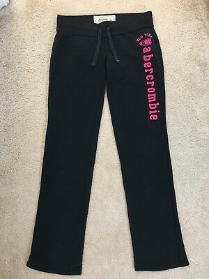 Abercrombie & Fitch Kids Girl's Black & White Tracksuit Bottoms Size Large