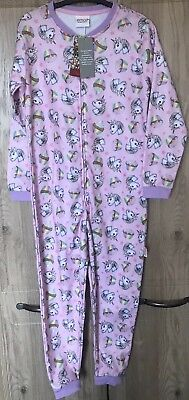 Girls Unicorn Nightwear Age 9-10 Babygrow One Piece Unicorn Gift Sleepwear