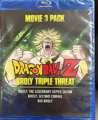 Dragon Ball Z Broly Triple Threat Movie 3 Pack Blu-ray, NEW SEALED,Free Shipping