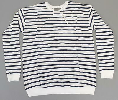 ASOS Women's Maternity Striped Pullover Sweater GS2 White Size US:4 NWT