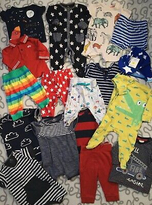 Baby Boys 3-6 Months Summer Clothes Bundle Next Rompers Bright Colourful