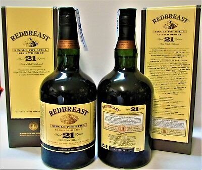 Whisky ♦ REDBREAST ♦ 21 Years ♦ SINGLE POT STILL ♦ IRISH WHISKY ♦ 70cl ♦ RARE!!