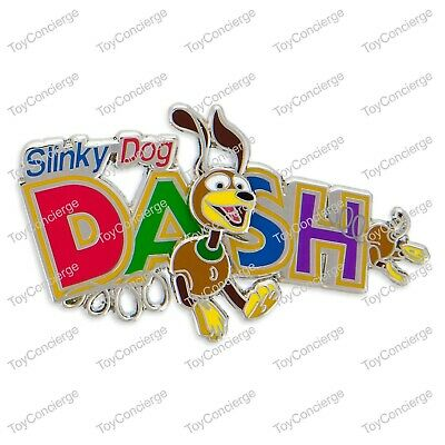 Disney New on Card Attraction Trading Pin TOY STORY SLINKY DOG DASH