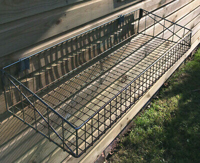 Genuine Vintage Industrial Architectural Salvage Wire Mesh Cage Wall Mount Shelf