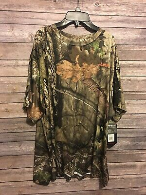 6a084f8bd98a3 Habit Scent Factor Mens Size XL Camo Short Sleeve Hunting Shirt Mossy Oak