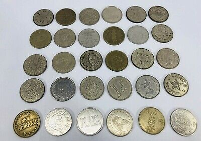 Lot 25 Vintage Key Token Coin Casino Chips Collectibles Card Gaming Best Price