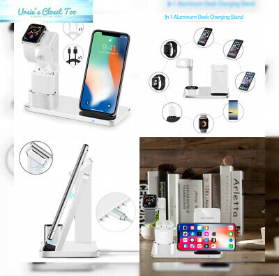 SENZLE Watch Stand Wireless Charger,3 in 1 Aluminum Fast Charger Charging...