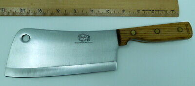 """Great Blades Meat Cleaver, Japan, Carvel Hall, Molybdenum Steel, 11"""", Full Tang"""