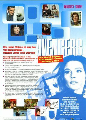 THE AVENGERS DEFINITIVE SERIES ONE Sale Sheet  SELL SHEET