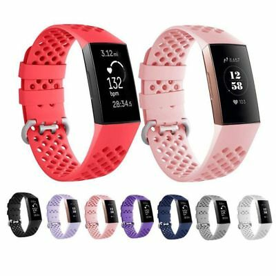 For Fitbit Charge 3 Replacement Adjustable Strap Sport Silicone Soft Watch Band