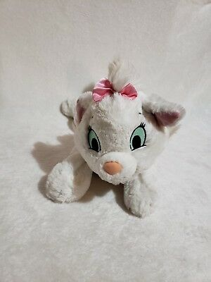 Disney Parks Aristocats Marie Plush White Angora Kitten Cat Girl Stuffed Animal