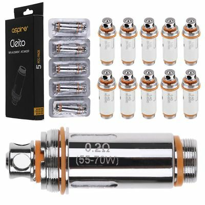 5Pcs For Aspire Cleito Tank Replacement Dual Clapton Coils Head 0.2 / 0.4ohm CA