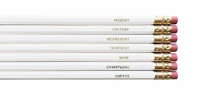 NEW August & Co Pencil Set - Monday to Coffee