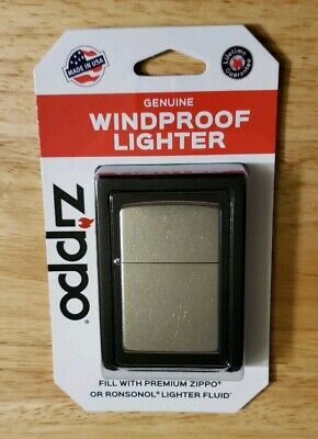 New ZIPPO Genuine Windproof Lighter 207 BP Regular Street Chrome Made in the USA