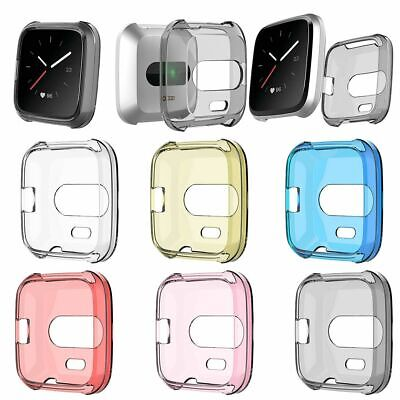 For Fitbit Versa Lite Silicone TPU Shell Case Screen Protector Frame Cover hot