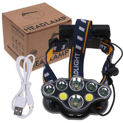 90000Lm Xm-L T6 Led Headlamp Head Light Head Torch Flashlight Camping Lamp Au