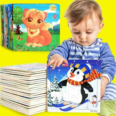 Wooden Puzzle Educational Developmental Baby Kids Training Toy Gift Wooden Toys