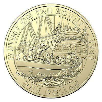 Australia 2019 Mutiny On The Bounty $1 One Dollar UNC Coin Carded RAM