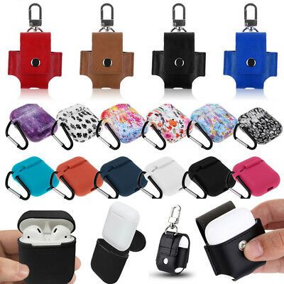 Silicone/Leather Shockproof Protective Cover Sleeve For Apple AirPods Earphones