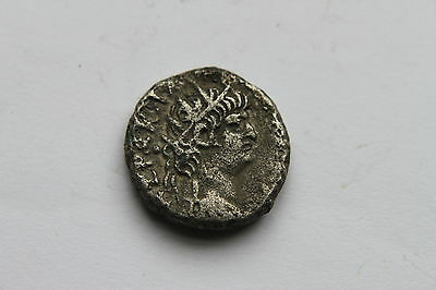 ANCIENT ROMAN EGYPTIAN BILLON SILVER TETRADRACHM COIN of NERO 1st Century AD