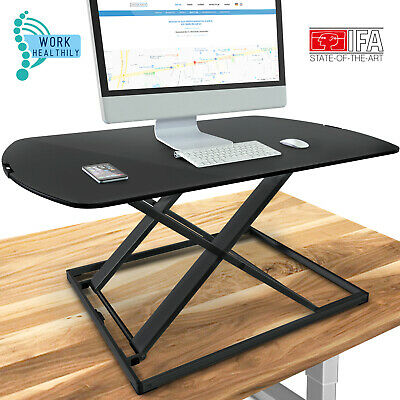 Deskfit 3in1 Height-Adjustable desk top 80cm - Sturdy double-X construction