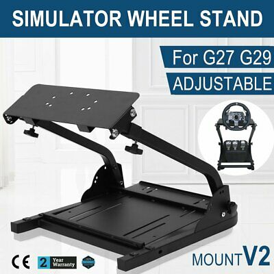 Folding Racing Game Console Simulator Stable Steering Wheel Stand For G27 G29 AU