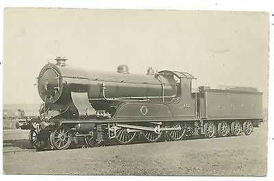 LONDON & SOUTH WESTERN RAILWAY - LSWR STEAM LOCO no.458 Real Photo 1918 Postcard