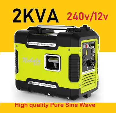 New Portable High Quality 2kVA Petrol Generator Pure Sine Rated 2000W Inverter