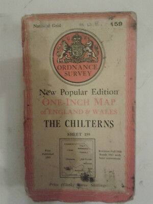 Ordnance Survey New Popular Edit 1 inch map E&W Sheet 159 The Chilterns