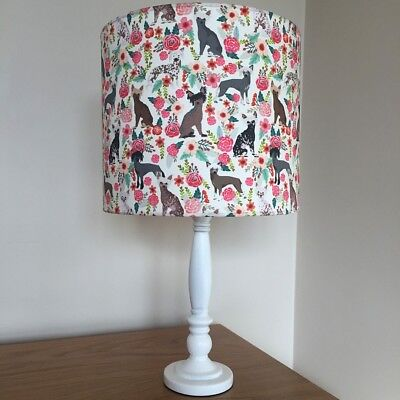 Chinese Crested Dog Print Fabric Lamp