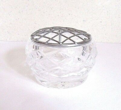 Cut Glass Bohemia Lead Crystal Flower Rose Bowl