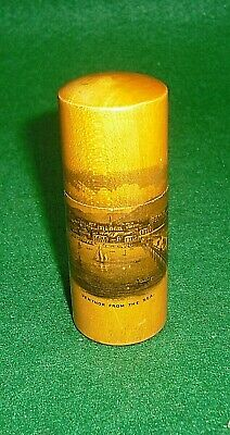 Ventnor Isle of Wight: MAUCHLINE WARE SMALL CYLINDRICAL NEEDLE CASE